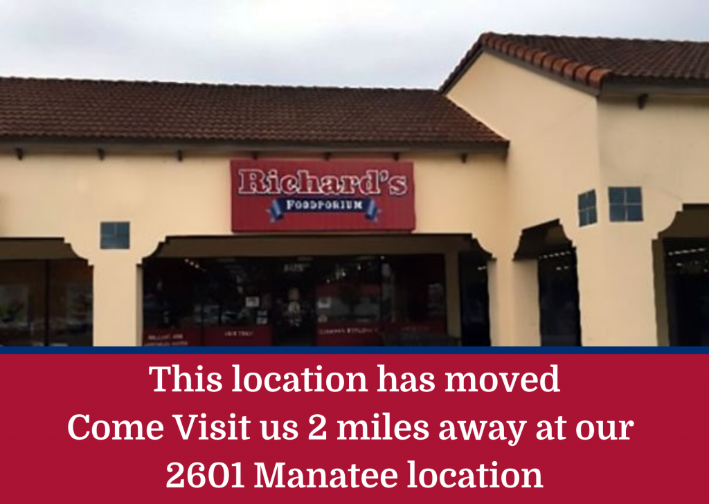 This location has moved Come Visit us 2 miles away at our 2601 Manatee location